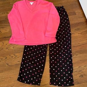 Charter Club Women's Size Medium Fleece PJ Set